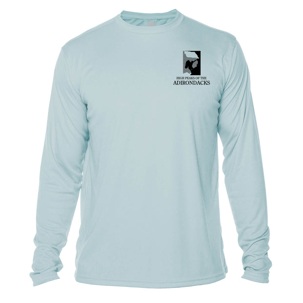 Adirondacks Diamond Topo Long Sleeve Microfiber Men's T-Shirt