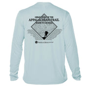 Appalachian Trail Diamond Topo  Long Sleeve Microfiber Men's T-Shirt