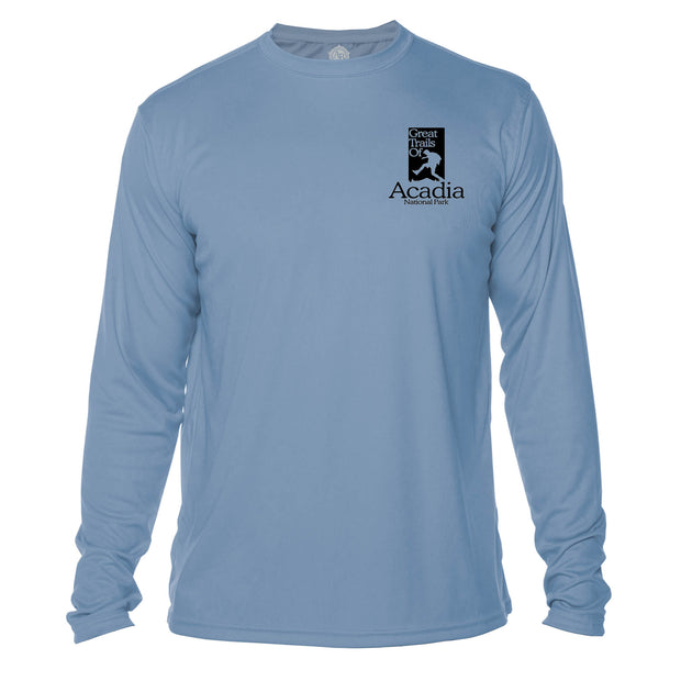 Acadia National Park Great Trails Long Sleeve Microfiber Men's T-Shirt