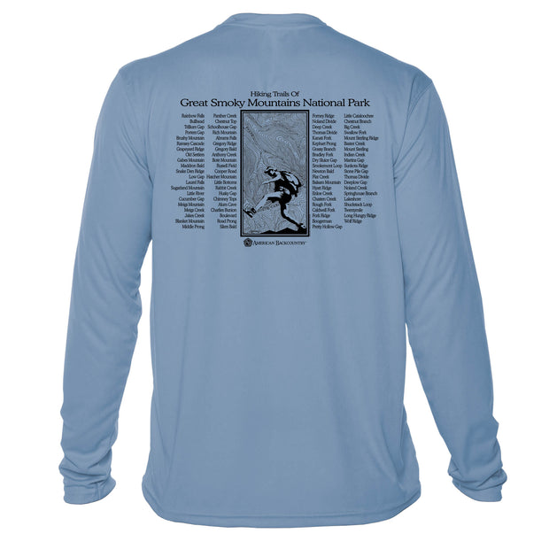 Smoky Mountain National Park Great Trails Long Sleeve Microfiber Men's T-Shirt