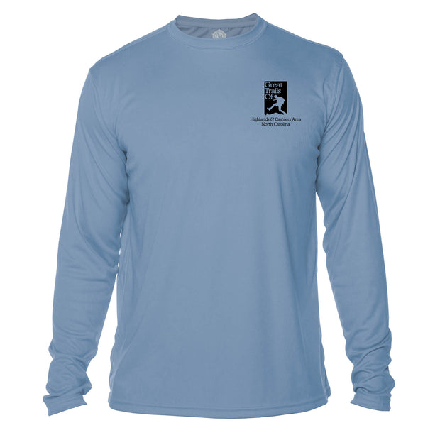 Highlands Cashiers Great Trails  Long Sleeve Microfiber Men's T-Shirt