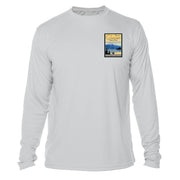 Glacier National Park Vintage Destinations Long Sleeve Men's Microfiber Men's T-Shirt