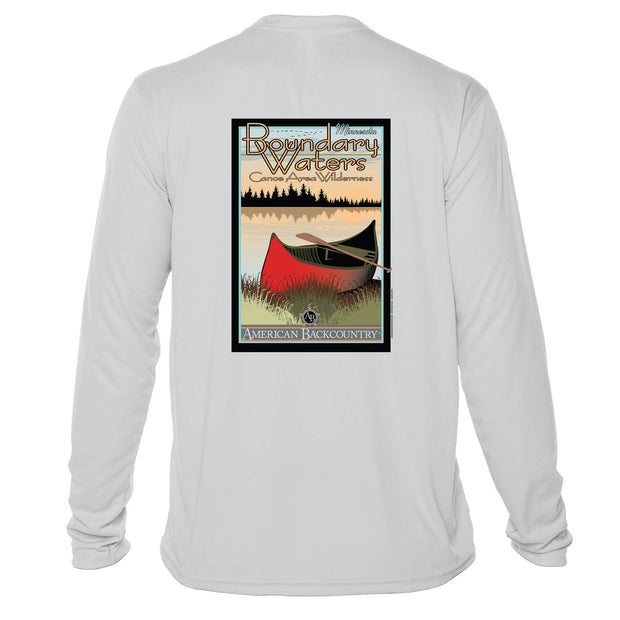 Boundary Waters Vintage Destinations Long Sleeve Men's Microfiber Men's T-Shirt