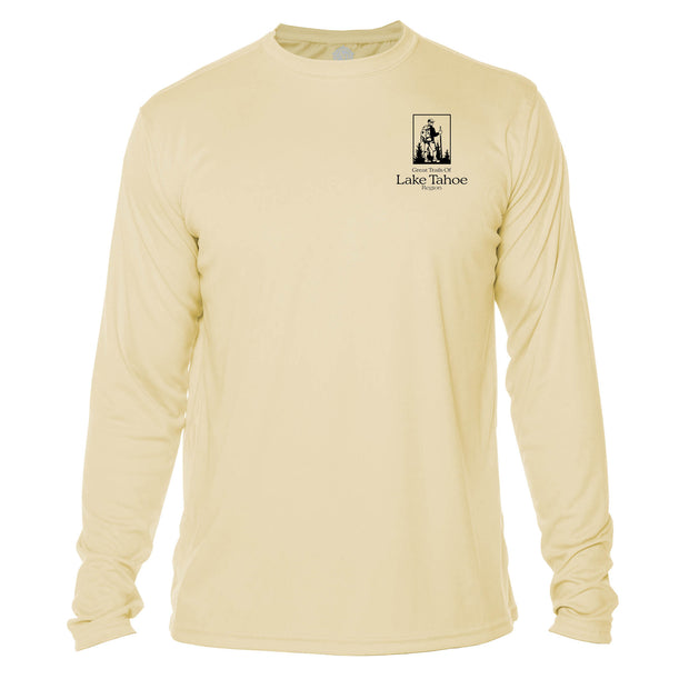 Lake Tahoe Great Trails Long Sleeve Microfiber Men's T-Shirt