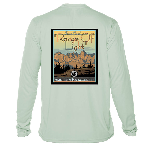 Range Of Light Vintage Destinations Long Sleeve Men's Microfiber Men's T-Shirt