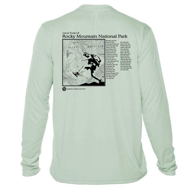 Rocky Mountain National Park Great Trails Long Sleeve Microfiber Men's T-Shirt