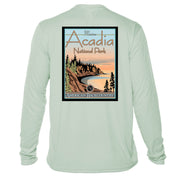 Acadia National Park Vintage Destinations Long Sleeve Men's Microfiber Men's T-Shirt
