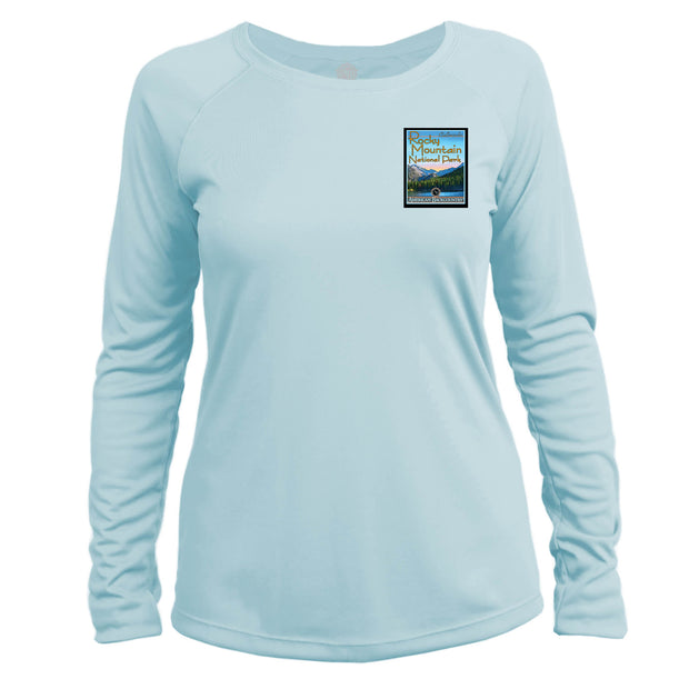 Rocky Mountain National Park Vintage Destinations Long Sleeve Microfiber Women's T-Shirt