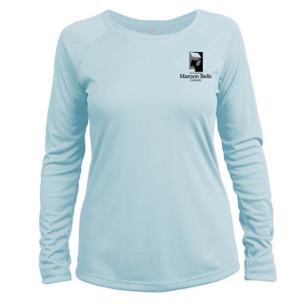 Maroon Bells Classic Mountain Long Sleeve Microfiber Women's T-Shirt
