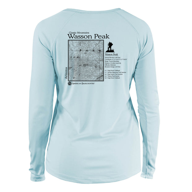 Wasson Peak Classic Mountain Long Sleeve Microfiber Women's T-Shirt