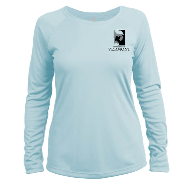 Vermont Diamond Topo Long Sleeve Microfiber Women's T-Shirt