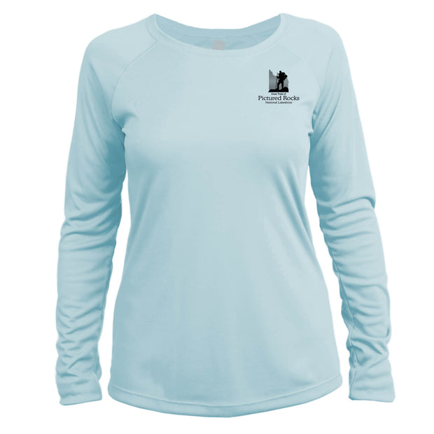 Pictured Rocks Great Trails Long Sleeve Microfiber Women's T-Shirt