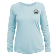 Retro Compass Mount Whitney Long Sleeve Microfiber Women's T-Shirt