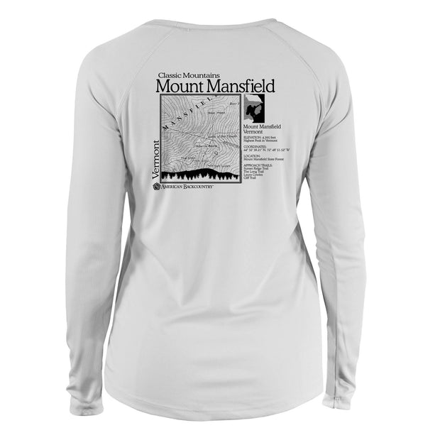 Mount Mansfield Classic Mountain Long Sleeve Microfiber Women's T-Shirt