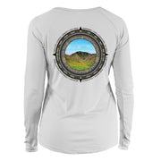 Retro Compass Great Smoky Mountains Long Sleeve Microfiber Women's T-Shirt