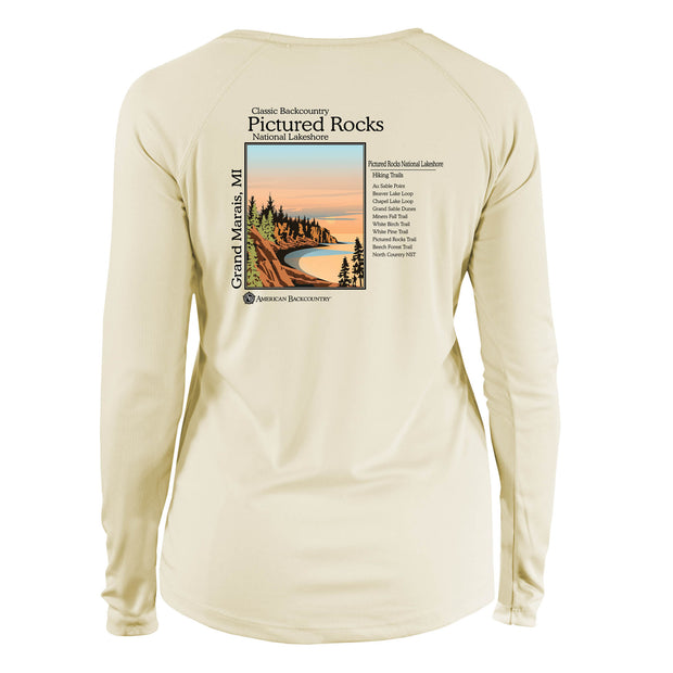 Pictured Rocks Classic Backcountry Long Sleeve Microfiber Women's T-Shirt