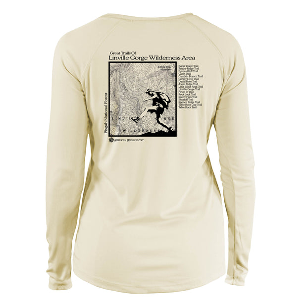 Linville Gorge Great Trails Long Sleeve Microfiber Women's T-Shirt