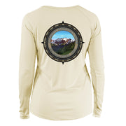 Retro Compass Olympic National Park Long Sleeve Microfiber Women's T-Shirt