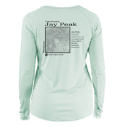 Jay Peak Classic Mountain Long Sleeve Microfiber Women's T-Shirt