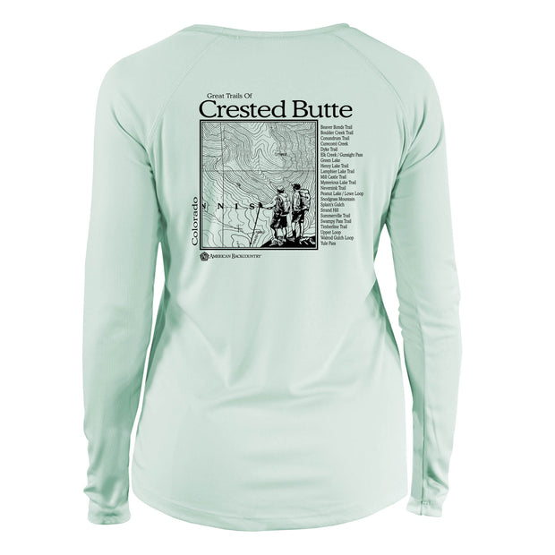 Crested Butte Great Trails Long Sleeve Microfiber Women's T-Shirt