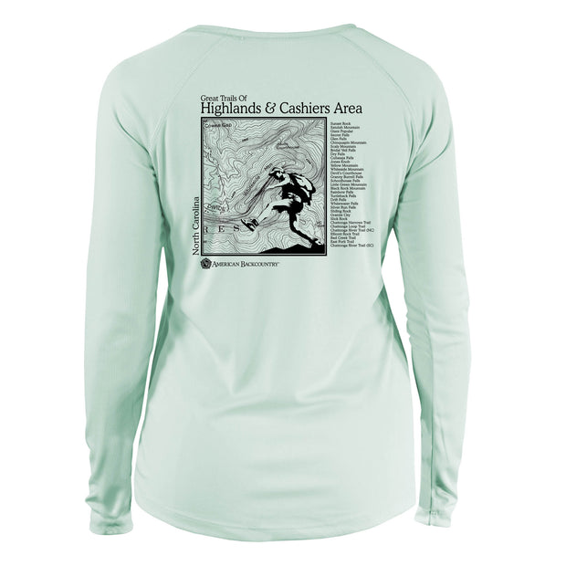 Highlands Cashiers Great Trails  Long Sleeve Microfiber Women's T-Shirt