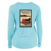Boundary Waters Vintage Destinations Long Sleeve Microfiber Women's T-Shirt
