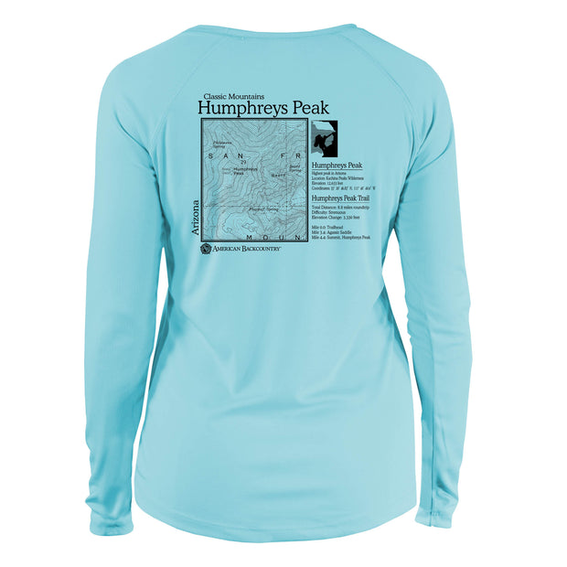 Humpreys Peak Classic Mountain Long Sleeve Microfiber Women's T-Shirt