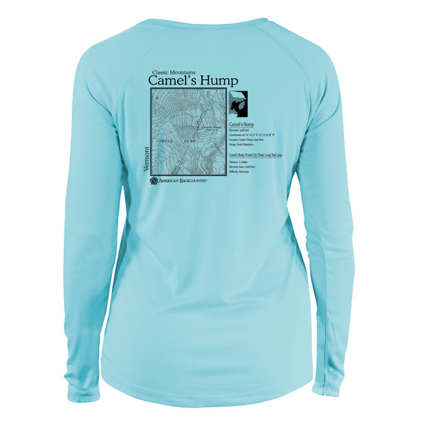 Camels Hump Classic Mountain Long Sleeve Microfiber Women's T-Shirt