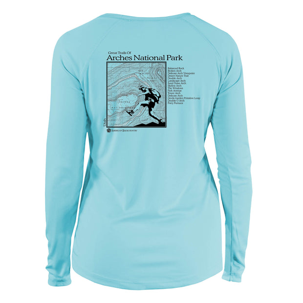 Arches National Park Great Trails Long Sleeve Microfiber Women's T-Shirt