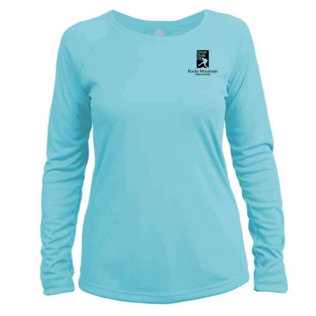Rocky Mountain National Park Great Trails Long Sleeve Microfiber Women's T-Shirt