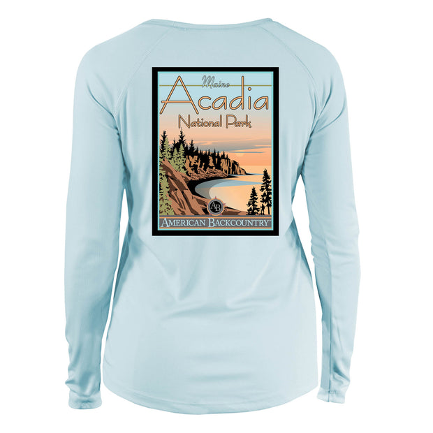 Acadia National Park Vintage Destinations Long Sleeve Microfiber Women's T-Shirt