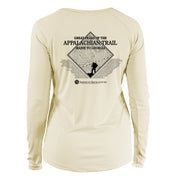 Appalachian Trail Diamond Topo  Long Sleeve Microfiber Women's T-Shirt