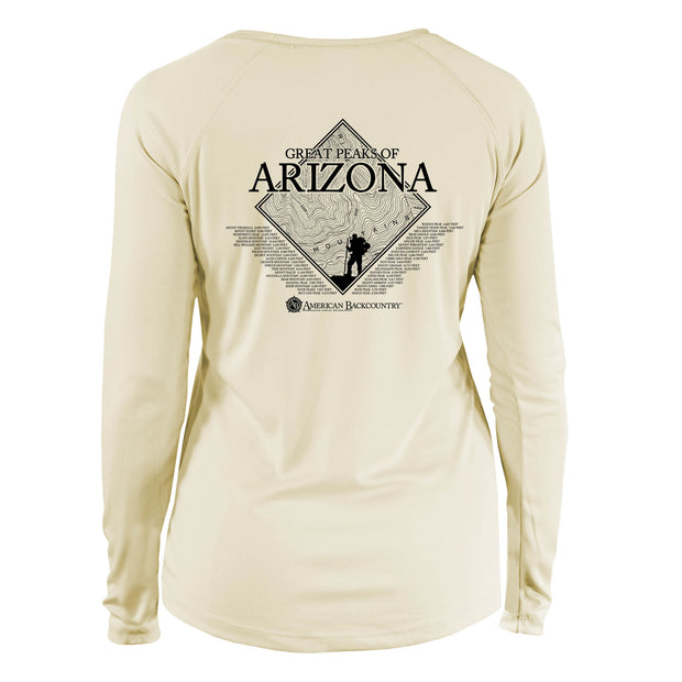 Arizona Diamond Topo  Long Sleeve Microfiber Women's T-Shirt