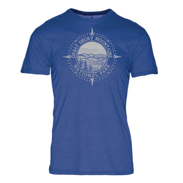 Minimalist Compass Great Smoky Mountains National Park REPREVE® Crew T-Shirt