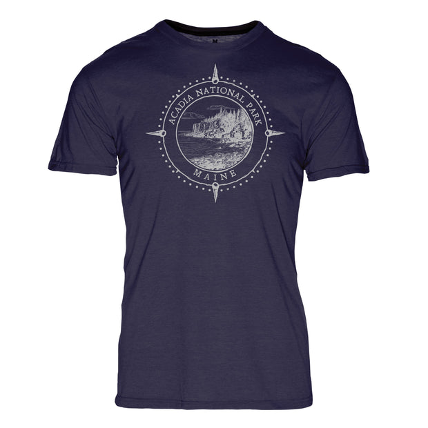 Minimalist Compass Acadia National Park REPREVE® Crew T-Shirt