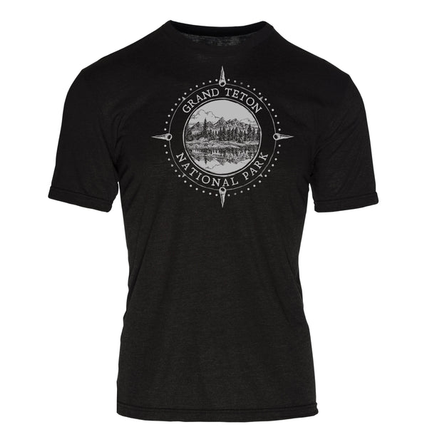 Minimalist Compass Grand Teton National Park REPREVE® Crew T-Shirt