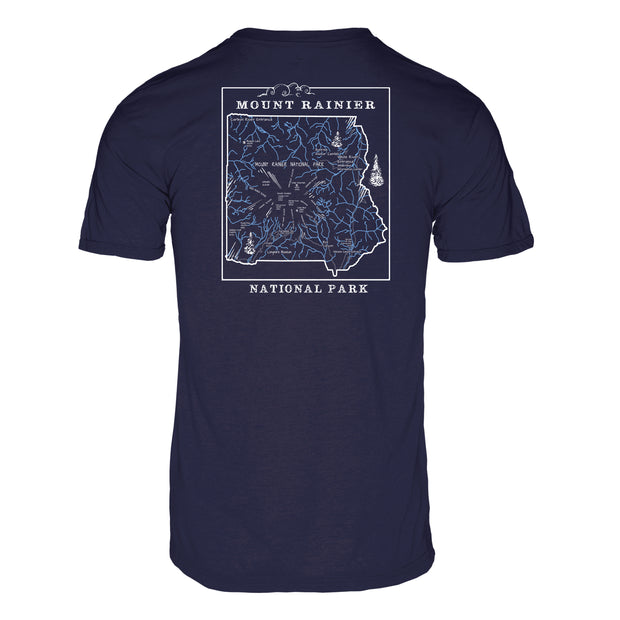 Mount Rainier National Park Men's REPREVE® Crew T-Shirt