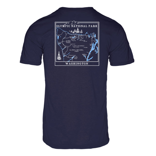 Olympic National Park Men's REPREVE® Crew T-Shirt