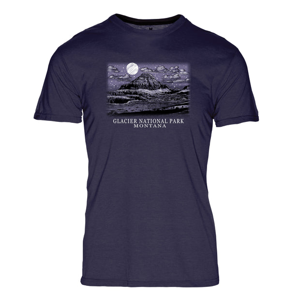 Night Sky Glacier National Park REPREVE® Crew T-Shirt