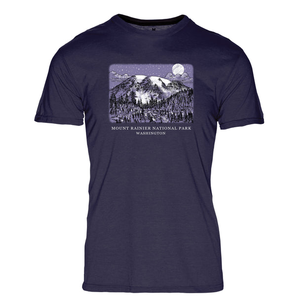 Night Sky Mount Rainier National Park REPREVE® Crew T-Shirt