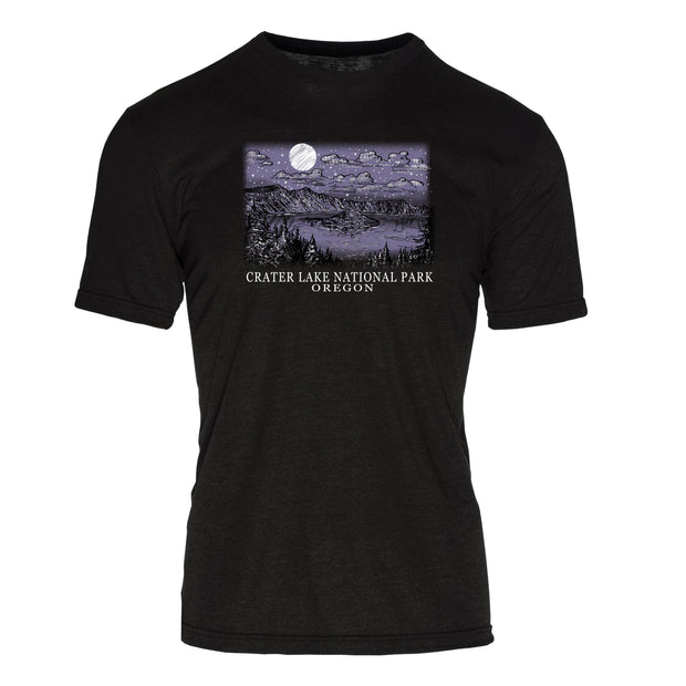 Night Sky Cater Lake National Park REPREVE® Crew T-Shirt