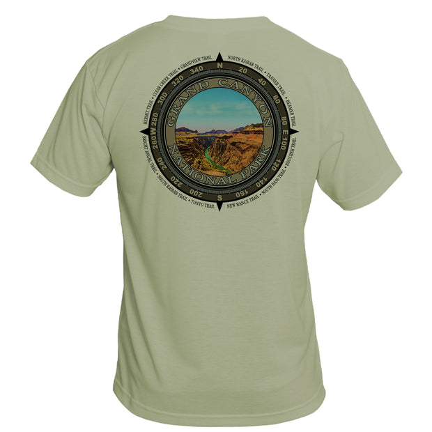 Retro Compass Grand Canyon National Park Basic Performance T-Shirt
