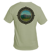 Retro Compass Mount Elbert Basic Performance T-Shirt