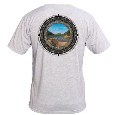 Retro Compass Acadia National Park Basic Performance T-Shirt