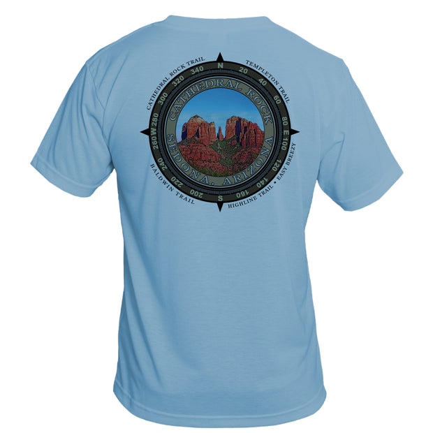 Retro Compass Cathedral Rock Basic Performance T-Shirt