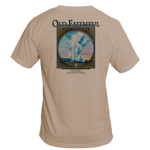 Retro Interpretive Old Faithful Basic Performance T-Shirt
