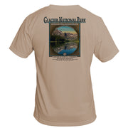 Retro Interpretive Glacier National Park Basic Performance T-Shirt
