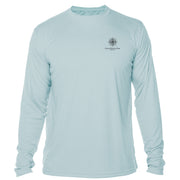 Retro Interpretive Glacier National Park Microfiber Long Sleeve T-Shirt