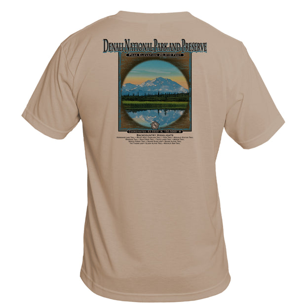 Retro Interpretive Denali National Park and Reseve Basic Performance T-Shirt