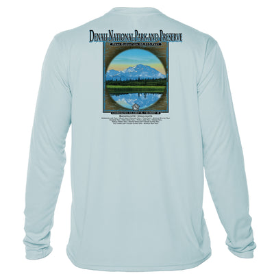Retro Interpretive Denali National Park and Reseve Microfiber Long Sleeve T-Shirt